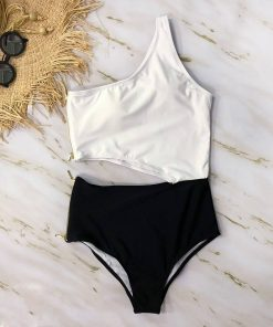 Floral Cut-Out Swimsuit Plus-Sizes