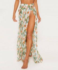 Bikini with Long Skirt Cover-Up
