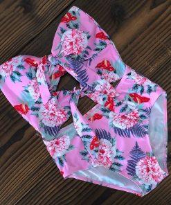Floral Tie Up Swimsuit