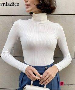 Basic Turtleneck Slim Pullover