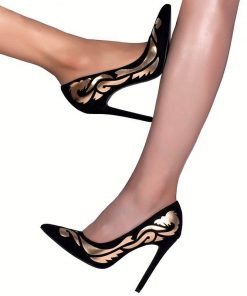 Black High Heel Pointed Shoes