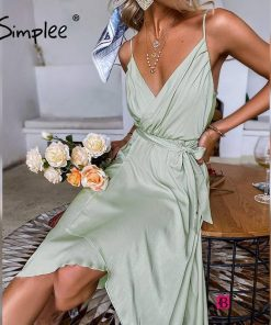 Casual Summer Belted Dress