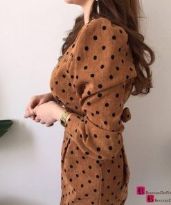 French Casual Dotted Dress
