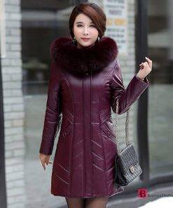 High End Leather Coat