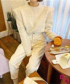 High Waist Loose White Jeans
