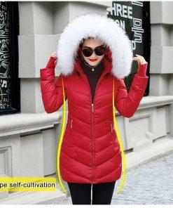 Hooded Slim Fur Coat