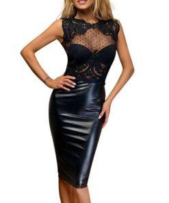 Leather Lace Dress