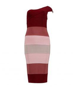 One Shoulder Gradient Dress
