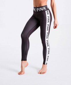 Pink Letter Fitness Legging