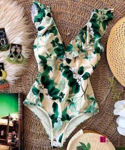 Ruffle One Piece Swimsuit