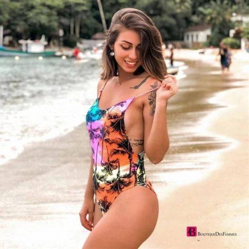 Sexy Backless Ruffle Swimsuit