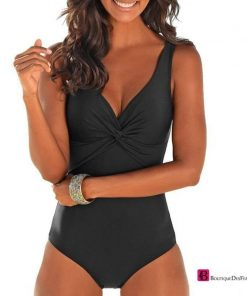 Simple Closed Large Size Swimsuit