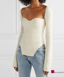 Square Collar Full Sleeves Top