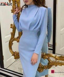 Stand Collar Slim Waist Dress