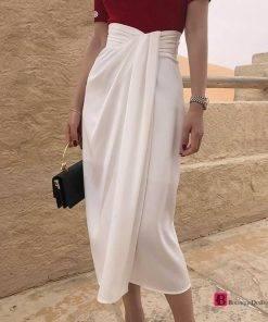Vintage Irregular High Waist Skirt